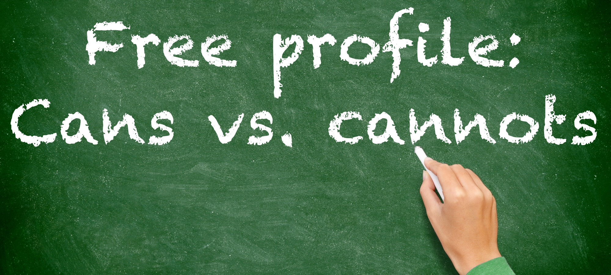 Free profile cans vs cannots